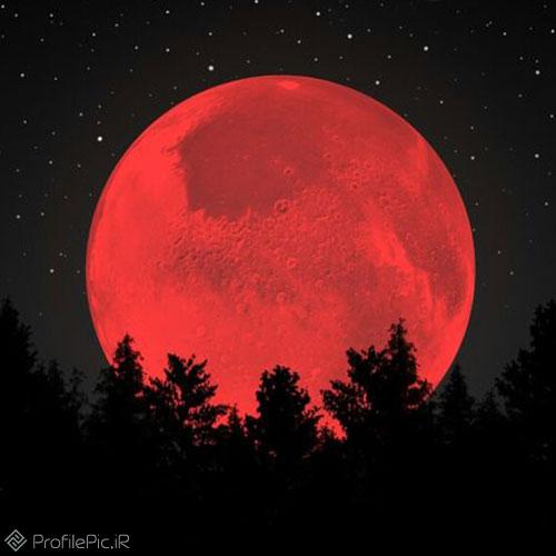 عکس پروفایل تاریک، کره ماه خفن