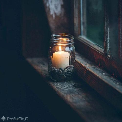 عکس پروفایل شمع مشکی غمگین