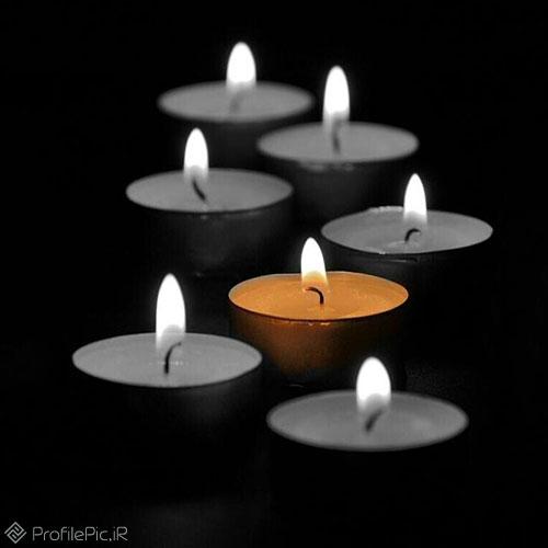 عکس شمع مشکی برای پروفایل