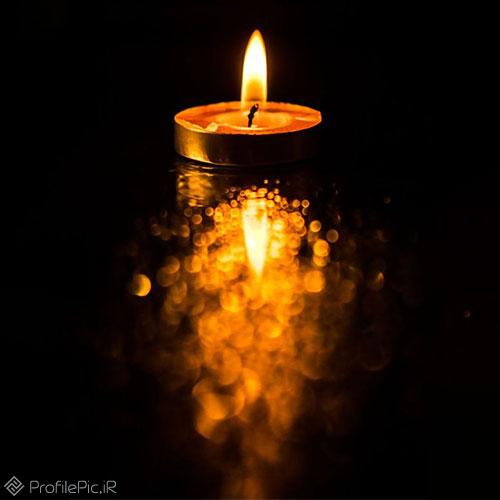 پروفایل شمع سیاه تسلیت