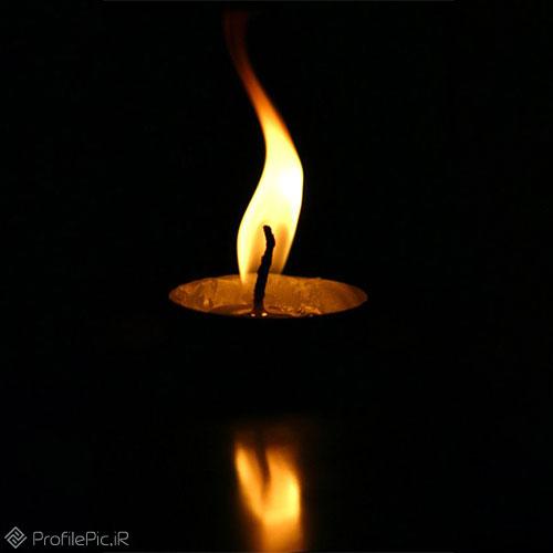 عکس شمع مشکی ساده