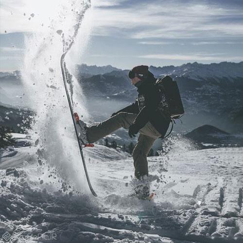 عکس پروفایل ورزشی در زمستان