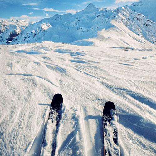 اسکی و برف