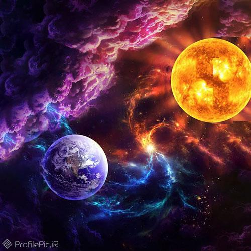 عکس نقاشی کره زمین