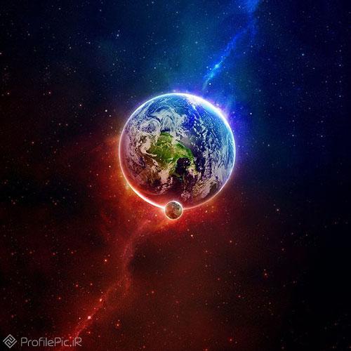 عکس کره زمین از ماه