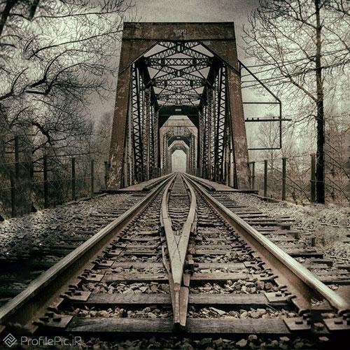 نمایی دیدنی از ریل قطار