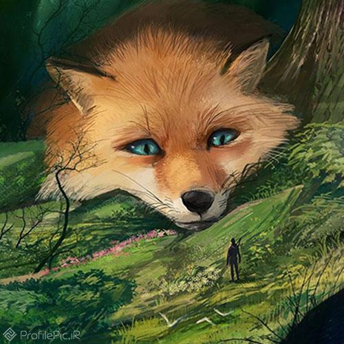 تصویر جالب روباه کارتونی