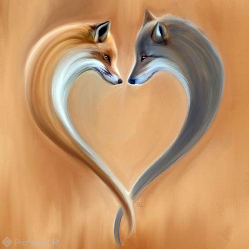 پروفایل عاشقانه نقاشی روباه