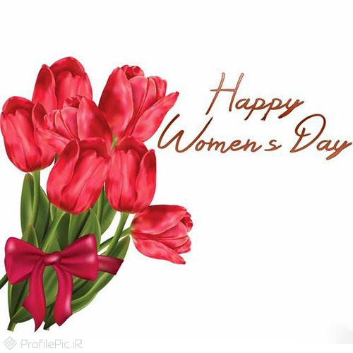 عکس نوشته تبریک روز زن