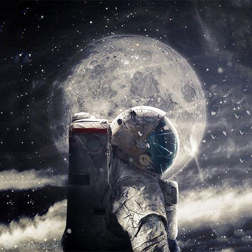 عکس پروفایل خاص فضانورد