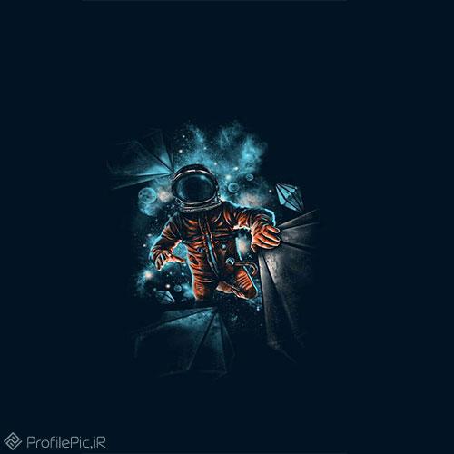 عکس پروفایل فضانورد