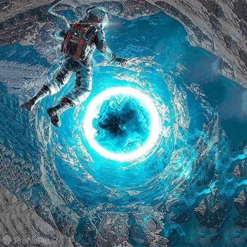 عکس جالب از فضانورد