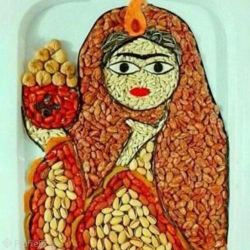 عکس زیبا از تزئین آجیل عید برای پروفایل
