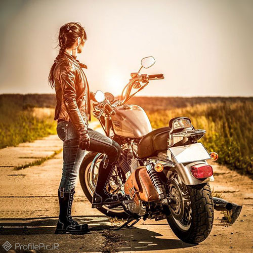 عکس خفن دختر موتور سوار