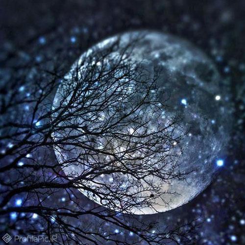 عکس آسمان شب با کیفیت بالا