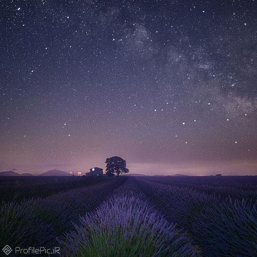 عکس آسمان شب برای پروفایل