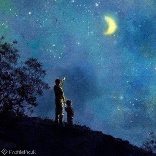 عکس مهتاب آسمان