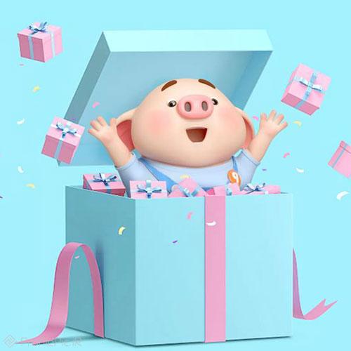 عکس خوک مخصوص پروفایل سال جدید