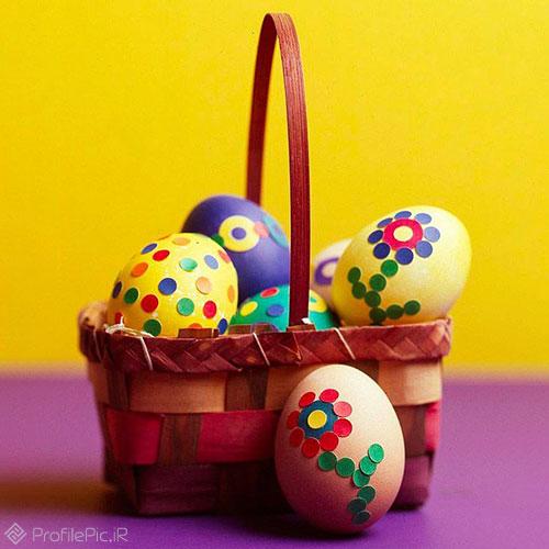 عکس زیبا تخم مرغ رنگی عید برای پروفایل