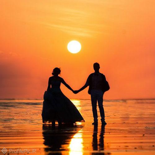 عکس عاشقانه دونفره لاکچری لب دادن