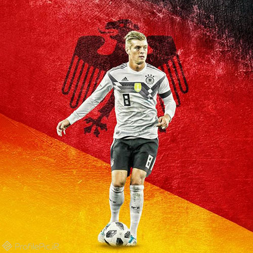 عکس تونی کروس با پیراهن آلمان برای پروفایل